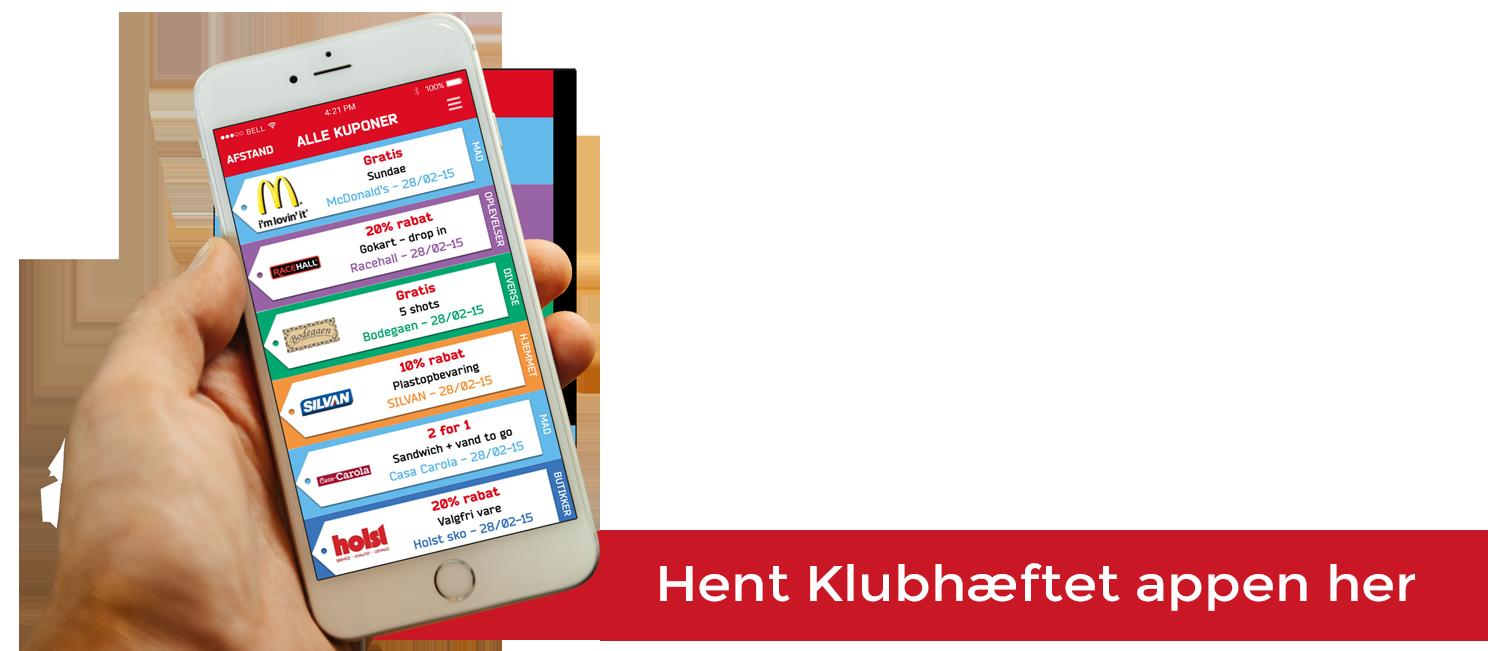 Hent Klubhæftet appen her. Tjen penge til din forening, klub eller dit hold.